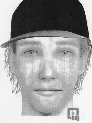 An identikit image of a serial rapist in Hamilton, New Zealand.