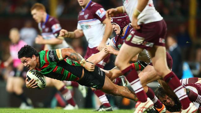 Manly found themselves overpowered by South Sydney last weekend.