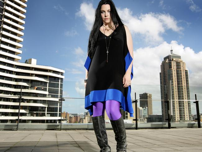 See Amy Lee isn't afraid of the sun — hitting the streets on their last Australian tour. Picture: Chris Pavlich