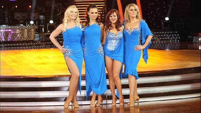 Left to right: stars of Strictly Come Dancing Pamela Stephenson, Kara Tointon, Tina O'Brien and Patsy Kensit. Kensit reveals in a new book that she underwent an emergency hysterectomy after a double cancer scare.