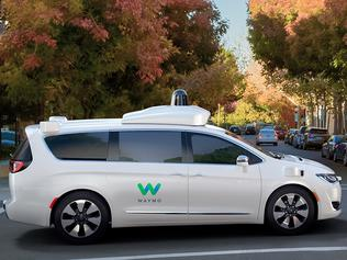 Chrysler Pacifica being used as part of Waymo self-drive test fleet in the US.