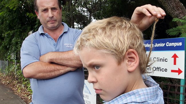 Rat Tail Hair Style: Harley Elvey, 8, Faces Detention Every Day At Capalaba