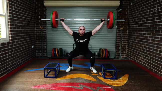 Malek Chamoun is the first blind weightlifter to make the Australian Commonwealth Games team.