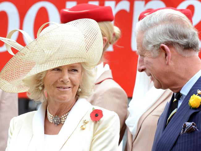 Duchess of Cornwall Camilla Parker Bowles with now husband Prince Charles. Picture: News Limited