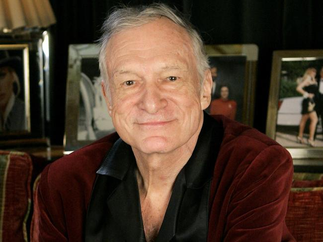 Playboy founder Hugh Hefner signed off on Ines Rau's centrefold appearance before hd ied. Picture: AP