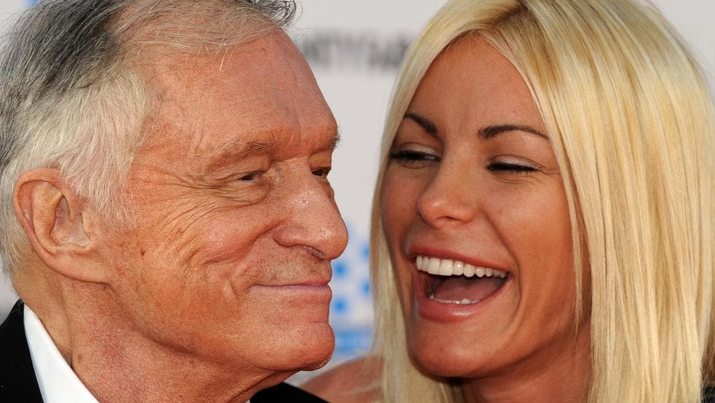 Playboy founder Hugh Hefner has left a $12 million inheritance to his wife, Crystal. Picture: AFP