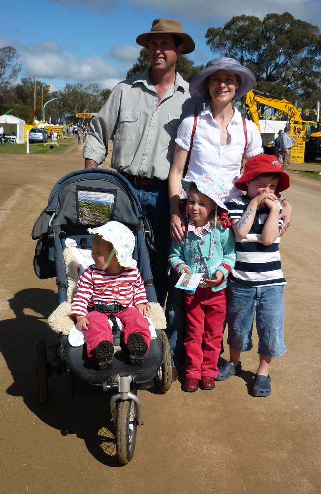 Geoff and Kim Hunt with their children Phoebe, Mia and Fletcher.