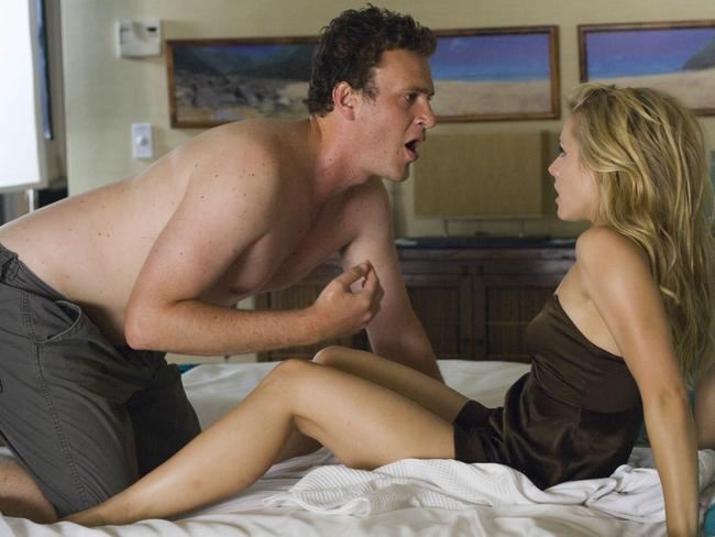 Sexy: Jason Segel and Kristen Bell in Forgetting Sarah Marshall.