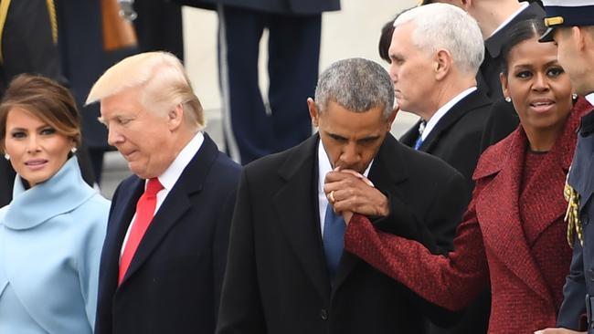 Body language expert Dr Lillian Glass said you cannot compare the relationship between the Trumps and the Obamas. Picture: AFP/Jim Watson.