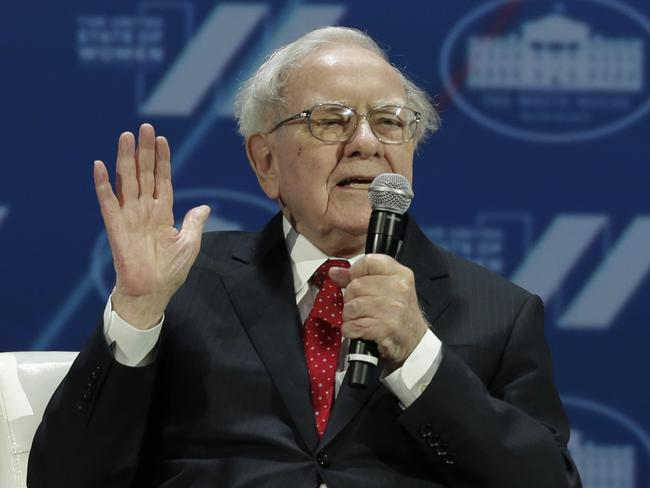 Investor Warren Buffett believes in sticking with long-term investments. Picture: AFP/Yuri Gripas