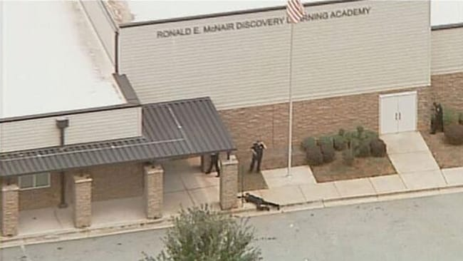SWAT team arrives at the school. Picture: Twitter