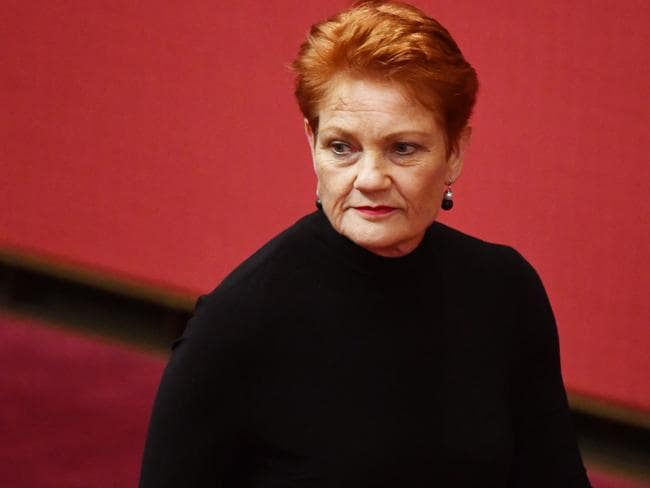 "Pauline Hanson has denied she's a racist after condemning the ""disgusting"" focus on Australia's indigenous heritage at the Commonwealth Games opening ceremony. Picture: AAP"