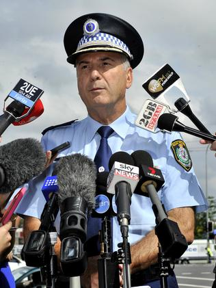 Assistant Commissioner Frank Mennilli holds a press conference at the scene of the shooting.