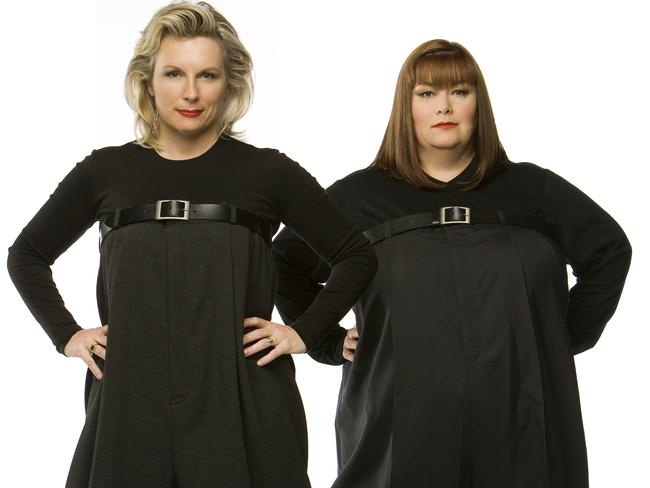 Dawn French (right) bet Jennifer Saunders she'd never write the Ab Fab movie.