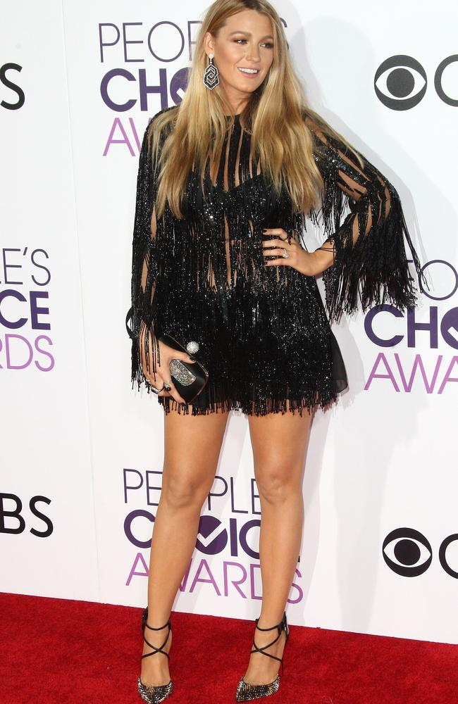 Actor Blake Lively arrives at the People's Choice Awards 2017. Picture: AFP.