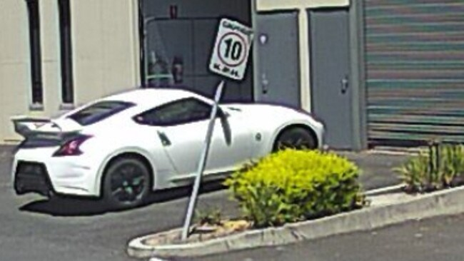 A white Nissan seen in Nunawading and believed connected to the ice seizure. Image: Victoria Police