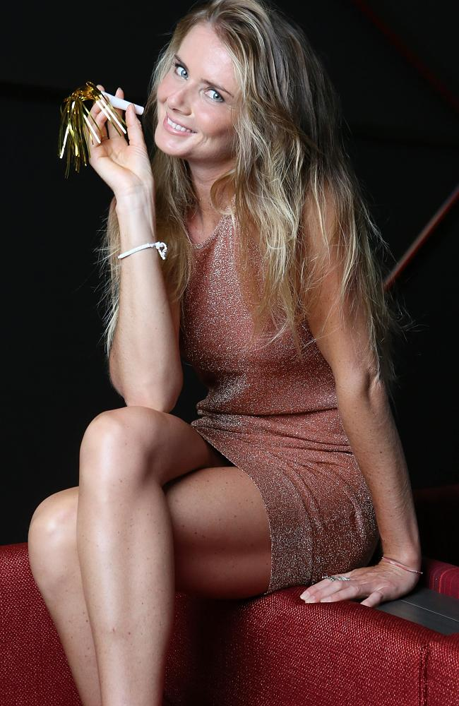 Tennis player Daniela Hantuchova prepares for New Year celebrations at Mantra, Southbank ahead of the Brisbane International. Pic by Sarah Keayes