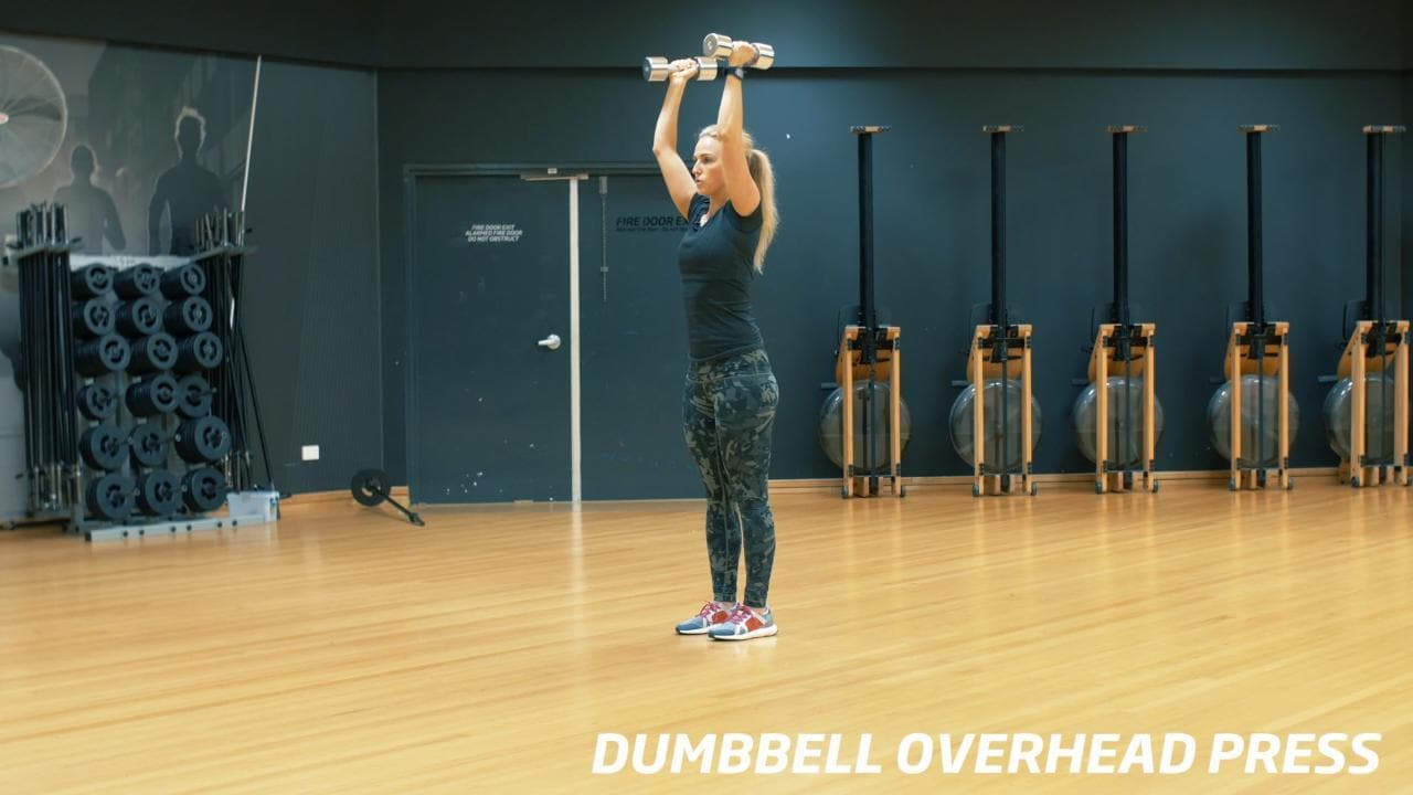 How to do a dumbbell press: Summer strong series day eight ... Dumbbell Overhead Press