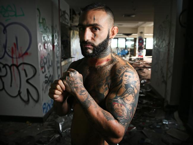 UFC fighter Ashkan Mokhtarian ahead of his UFC fight in Sydney. Picture: Richard Dobson