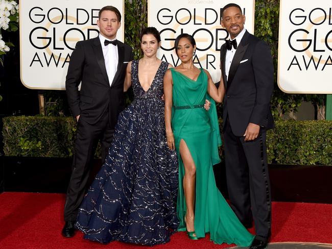 Power couples ... Channing Tatum, Jenna Dewan Tatum, Jada Pinkett Smith and Will Smith. Picture: AFP