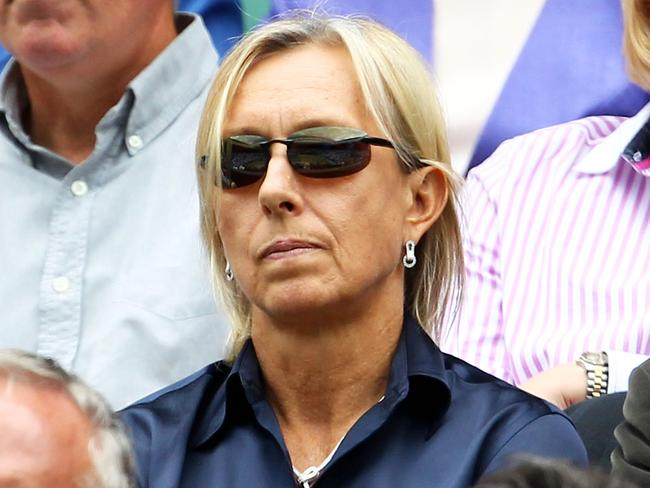 Martina Navratilova pictured in the crowd at a previous Wimbledon tournament.
