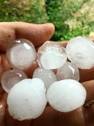 Hail the size of marbles came down in Mudgee.