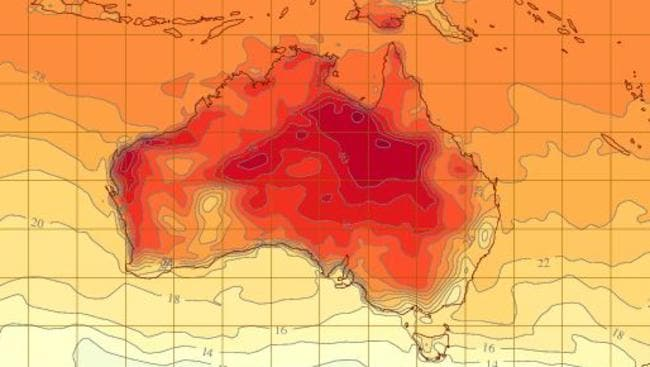 High temperatures and a heatwave are expected to hit Queensland next week with inland highs of more than 40 degrees. Source: BoM
