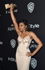 Triumphant: Taraji P. Henson, winner of Best Performance in a Television Series — Drama for 'Empire,' attends InStyle and Warner Bros. 73rd Annual Golden Globe Awards Post-Party. Picture: Lester Cohen/WireImage