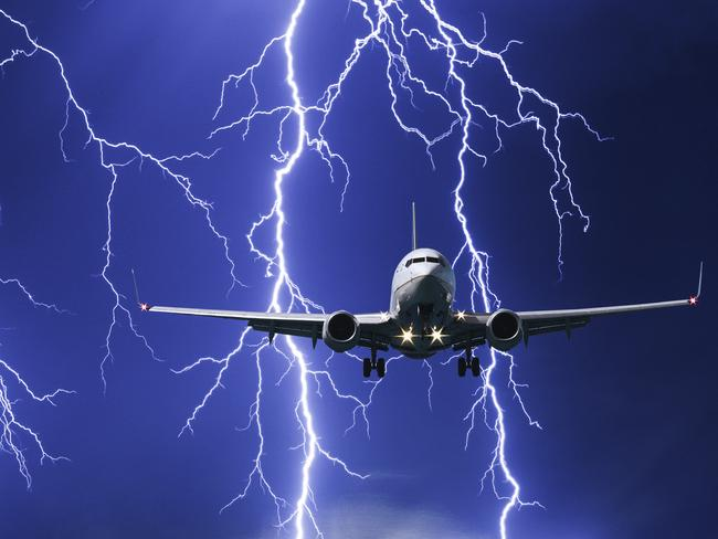 Don't worry about lightning while flying.