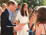 Prince William, Duke of Cambridge and Catherine, Duchess of Cambridge speak with nurses at Bear Cottage