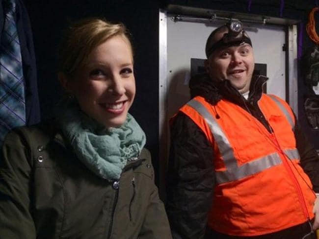 Team ... Reporter Alison Parker, left, and cameraman Adam Ward. Picture: Courtesy of WDBJ-TV