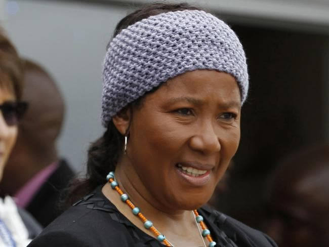 Threat to sue ... Makaziwe Mandela, right, at her father's funeral. Picture: Siphiwe Sibeko