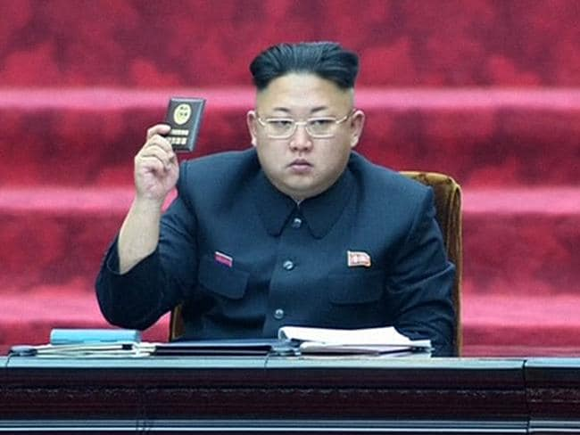 Show of force: North Korean leader Kim Jong Un seems to have ordered missile launch. AP Photo/KRT via AP Video