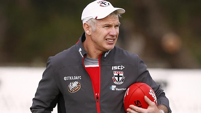 Part-time assistant coach Danny Frawley at St Kilda training. Picture:Wayne Ludbey