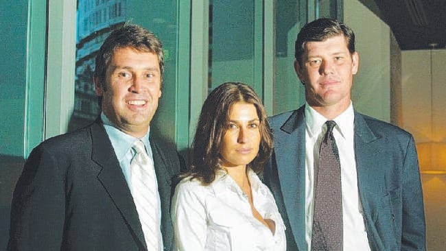 David Gyngell, Jodhi Meares and James Packer