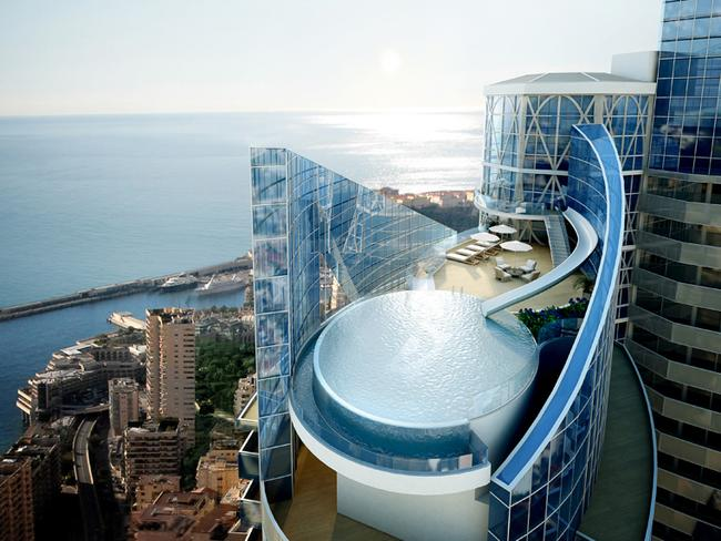 No penthouse is complete without a water slide. Picture: Tour Odeon.