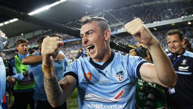 Ryall has won two premierships with the Sky Blues. Picture: Brett Costello