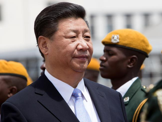 Chinese President Xi Jinping inspects the guard of honour following his arrival in Harare to sign various economic deals in agriculture, energy and infrastructure development in 2015. Picture: AFP