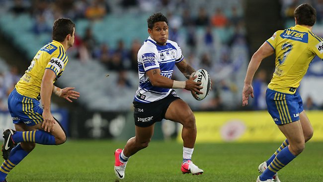 Bulldogs Ben Barba made a mess of the Parramatta defence in round 19. Picture: Brett Costello