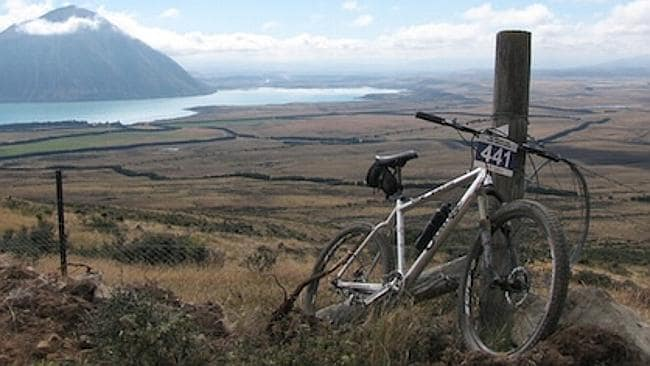 One of the highest points on the Ohau to Quailburn section. Picture: Flickr Mountain Bike Mt Cook, New Zealand