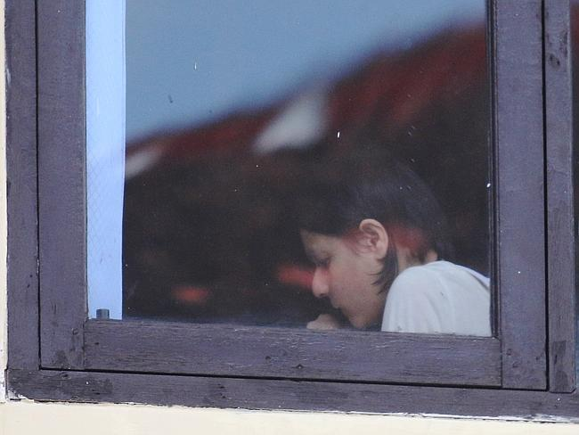 Feeling the strain of being in jail almost three months ... Sydney woman Leeza Ormsby pictured during a psychiatric assessment in Bali.