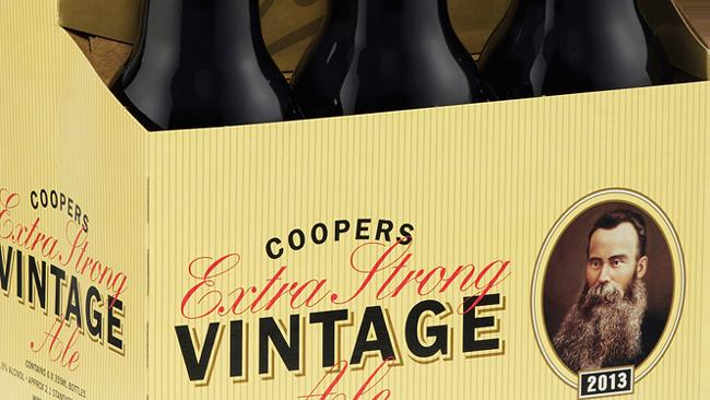 Coopers Extra Strong Vintage Ale 2013 six-pack supplied for Mike Gribble