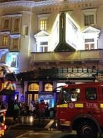Atmosphere at the ceiling collapse of the Apollo Theatre, in London's Shaftesbury Avenue. Picture: _alexey_moskvin/Twitter