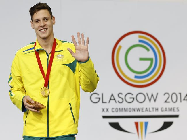 Mitch Larkin won the 200m backstroke at the Commonwealth Games.
