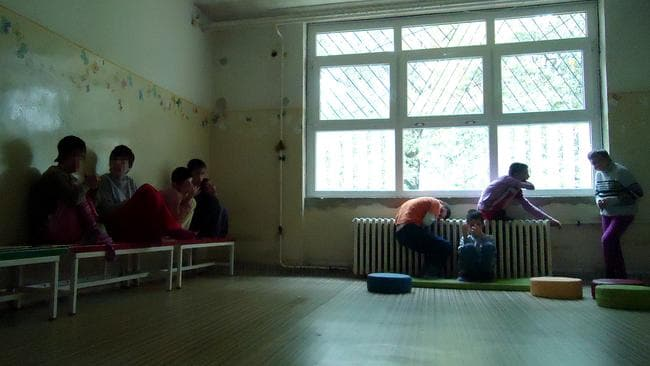 Hundreds of disabled children in Serbia are placed in institutions like this and effectively forgotten.