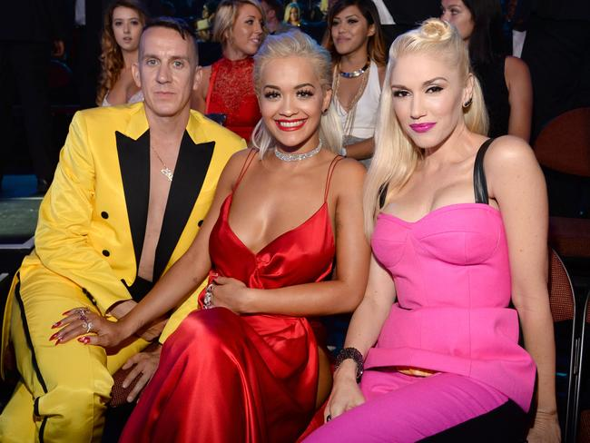 Jeremy Scott and Gwen Stefani didn't mind sitting next to Rita.
