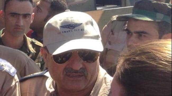Twitter image of Major general and pilot Majid Ashour, who died in a chopper crash, during an aid operation, at Mount Sinjar. Picture: Twitter