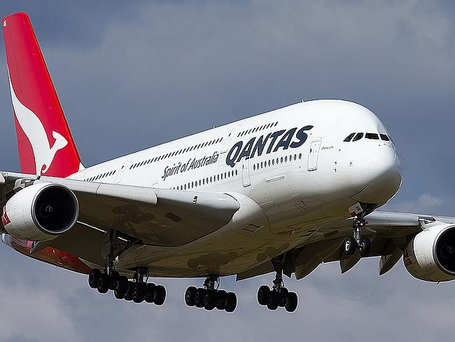 High maintenance ... the Qantas Airbus A380 is the most labour intensive plane to maintain, says the Australian Services Union. Picture: Lance Broad.