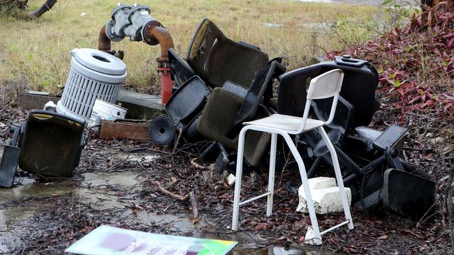 Rubbish dumped in a vacant lot in Morningside. Picture: Jono Searle