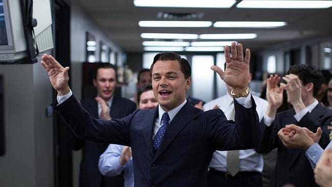 """Leonardo DiCaprio, Jonah Hill and Margot Robbie star in """"The Wolf of Wall Street"""". Pictures: Splash"""